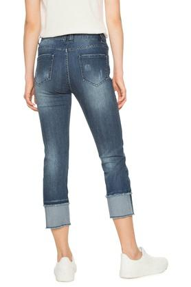 Womens 5 Pocket Embroidered Jeans