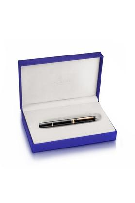 Contemporary Rose Gold Trim Black Ink Rollerball Pen