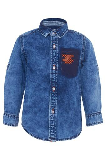 TALES & STORIES -  Medium Blue DenimTopwear - Main