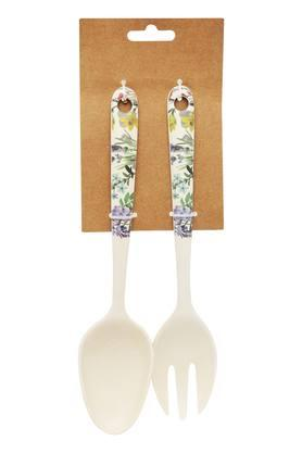 BACK TO EARTH Printed Botanical Garden Spoon And Fork Set Of 2