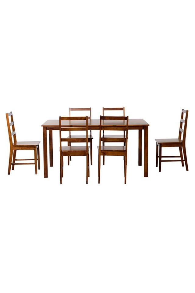 Brown Rogers 6 Seater Dining Set