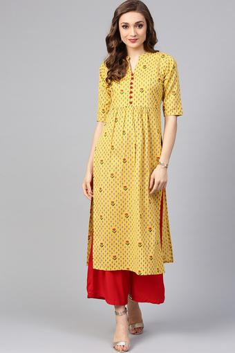 LIBAS -  Yellow Kurtas - Main