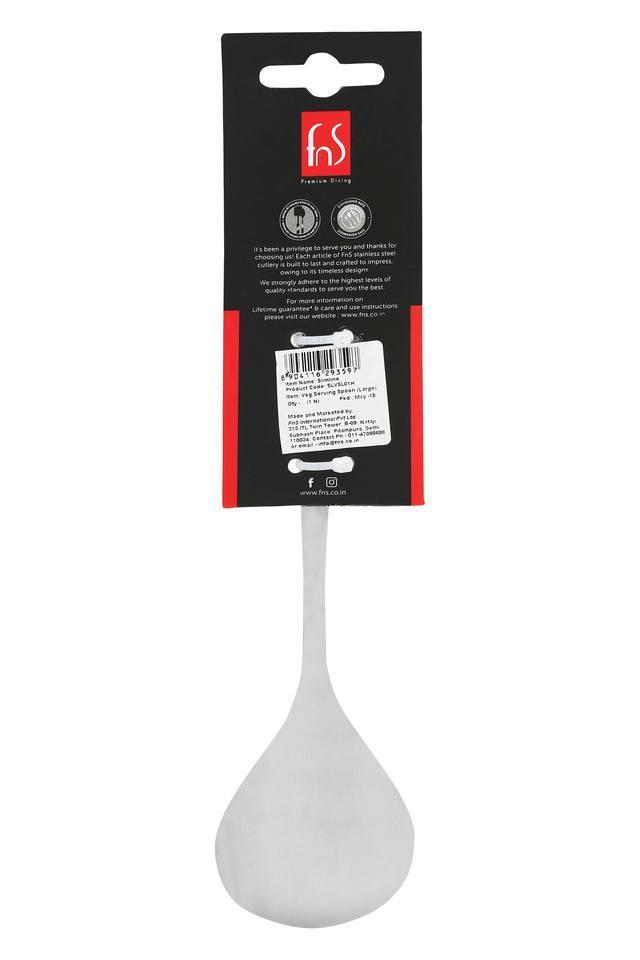 Slimline Stainless Steel Solid Serving Spoon