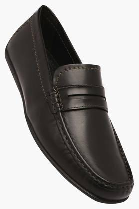 VENTURINI Mens Leather Slipon Loafers - 203017965