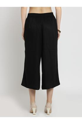 Womens Solid Culottes