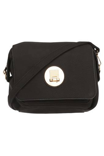 Womens Zipper Closure Sling Bag