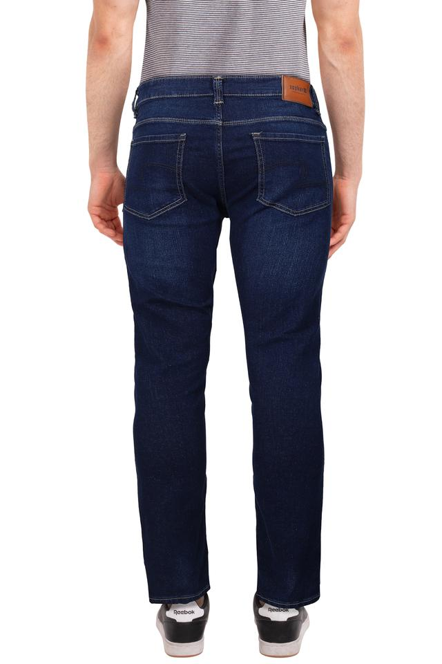 Mens Skinny Fit Whiskered Effect Jeans