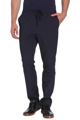 Mens Slim Fit 4 Pocket Stripe Trousers