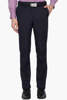 ARROWMens Tapered Fit 4 Pocket Solid Formal Trousers