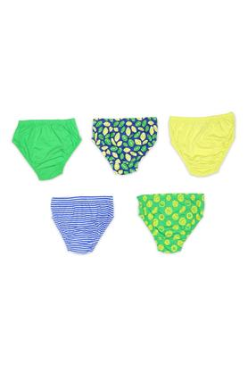Boys Printed, Solid and Striped Briefs - Pack of 5