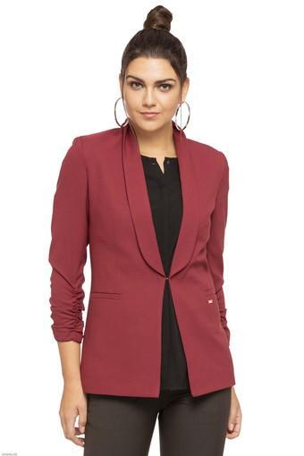 Womens Shawl Lapel Solid Blazer