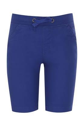 Kids 4 Pocket Solid Shorts