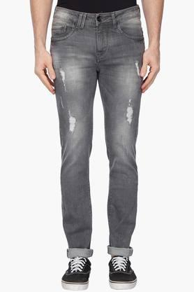 FLYING MACHINE Mens Slim Tapered Fit Heavy Wash Jeans (Micheal Fit)