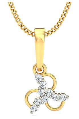 P.N.GADGIL JEWELLERS Womens Wheeling Diamond Pendant DJPD-51