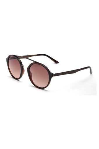 Unisex Full Rim Round Sunglasses - 2051 C2 S