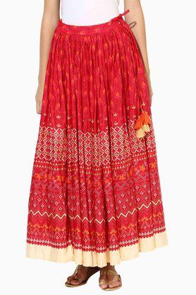 JUNIPER Womens Printed Flared Skirt