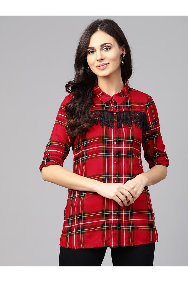 Womens Tailored Fit Check Shirt