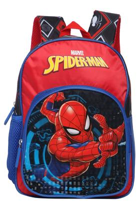 X DISNEY Boys Spiderman Zip Closure School Bag b32331d8d49fe
