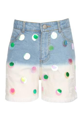 Girls 5 Pocket Assorted Embellished Shorts