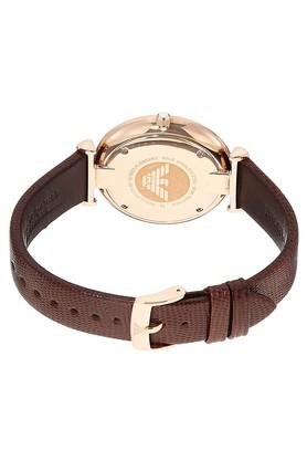 Mens and Womens Analogue Leather Watch Combo