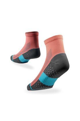 Unisex Colour Block Quarter Socks - Pack of 2