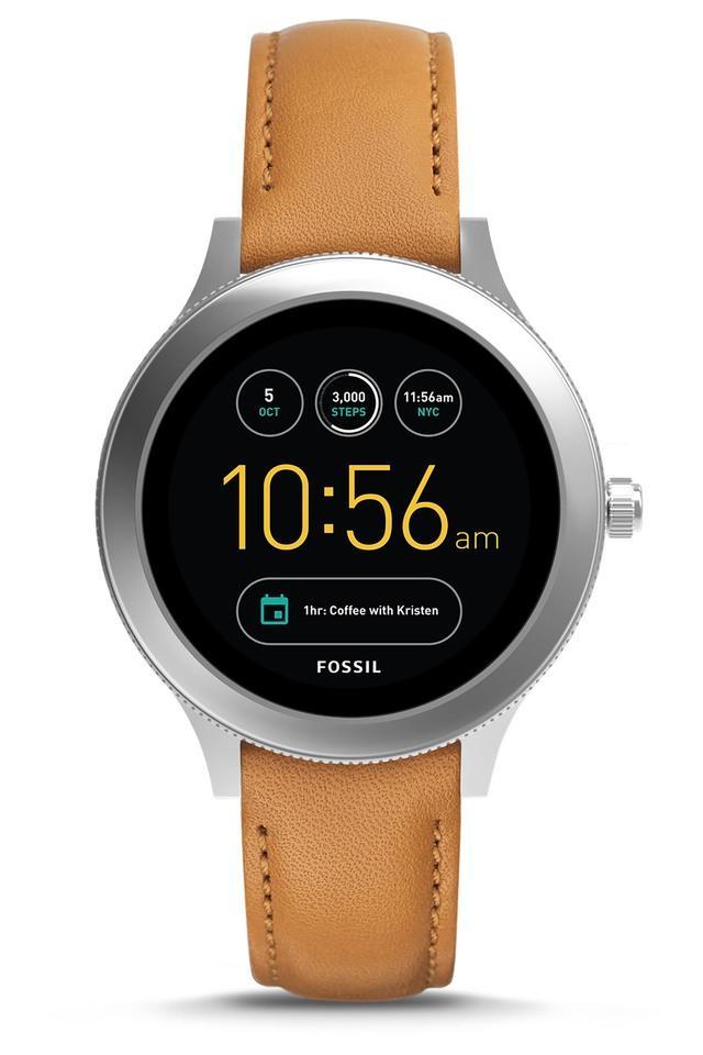 Q Venture Luggage Leather Gen 3 Smart Watch FTW6007