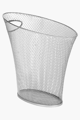 UMBRA Open Top Skinny Nickel Mesh Can Dustbin