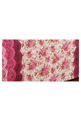 Cream and Pink Floral Single AC Comfortor
