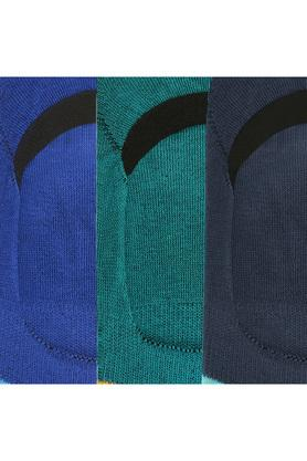 Unisex Colour Block No Show Socks - Pack of 3