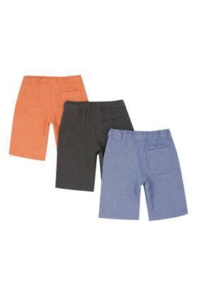 Boys Slub Shorts Pack of 3