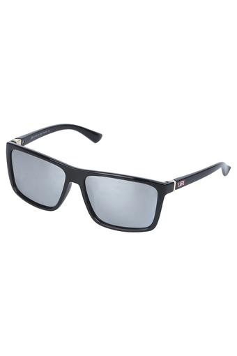 Mens Mirror Polarized Square Sunglasses - LIO57C11
