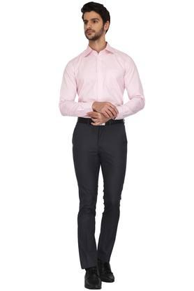 Mens Slim Collar Check Shirt (Ultrapress)