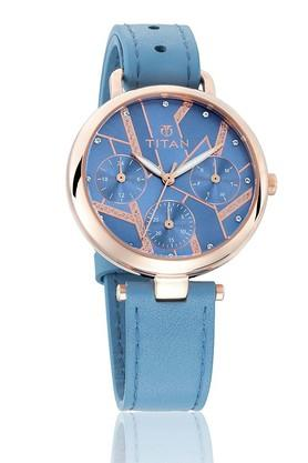 TITANWomens Purple Whimsy Blue Dial Multifunction Watch 95079WL02