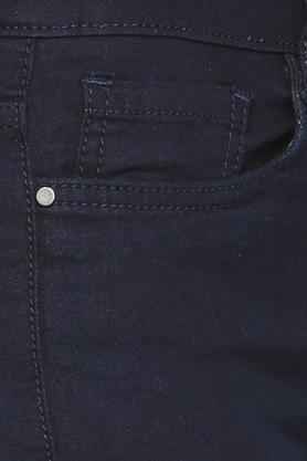 Women 5 Pockets Rinse Wash Jeans