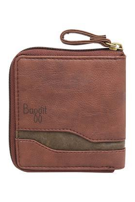 BAGGIT Mens Zipper Closure 1 Fold Wallet