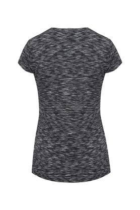 Womens Round Neck Textured Top