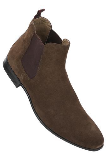 Mens Suede Slipon Boots