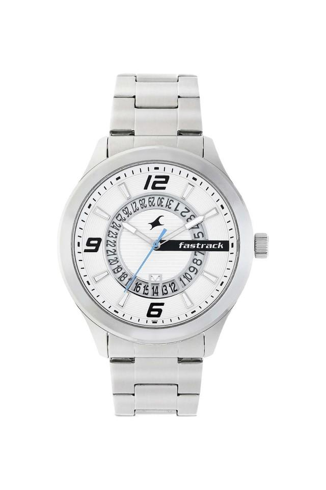 Mens Loopholes  White Dial Analogue Watch - 38050SM01