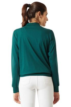 Womens Solid Bomber Jacket
