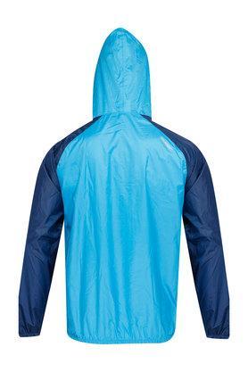 Unisex Hooded Neck Colour Block Rain Jacket