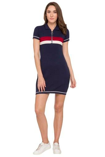 Womens Solid T-Shirt Dress