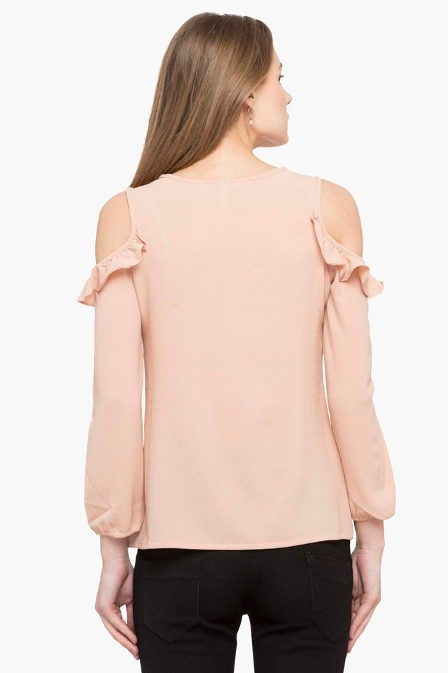 Womens Keyhole Neck Solid Top