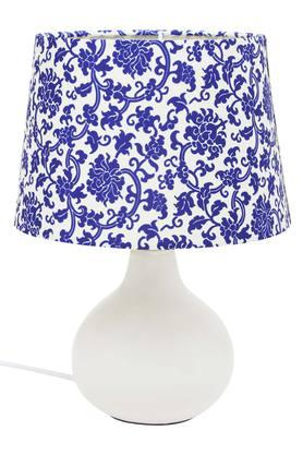IVY Round Floral Print Table Lamp