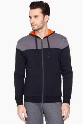 REEBOKMens Hooded Colour Block Sweatshirt
