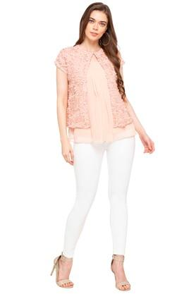Womens Open Front Lace Jacket
