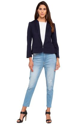 Womens Slub Casual Blazer