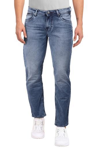 Mens Slim Fit Mild Wash Jeans
