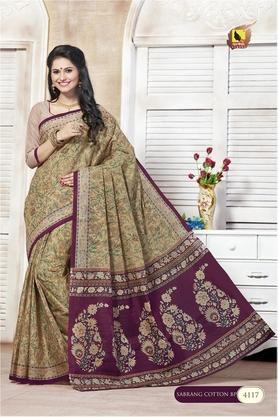 ASHIKAWomens Printed Saree With Blouse Piece - 204577023_9667