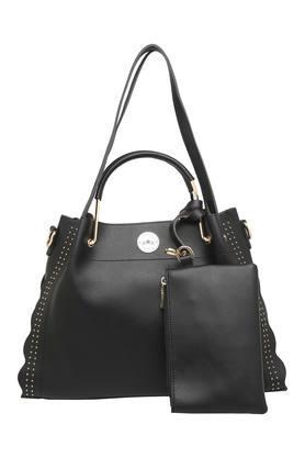 RS BY ROCKY STARWomens Zipper Closure Satchel Handbag With Sling Bag