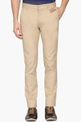 IZOD Mens Slim Fit Solid Chinos